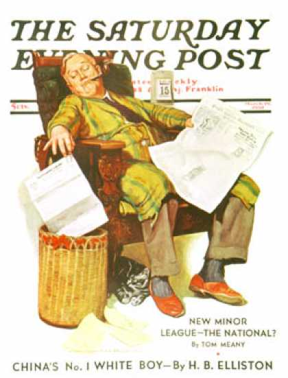 Saturday Evening Post - 1938-03-19: Tax Deadline (John Newton Howitt)
