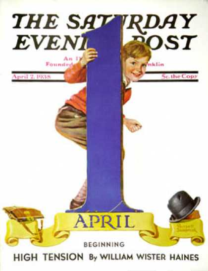 Saturday Evening Post - 1938-04-02: April Fool's Day (Russell Sambrook)