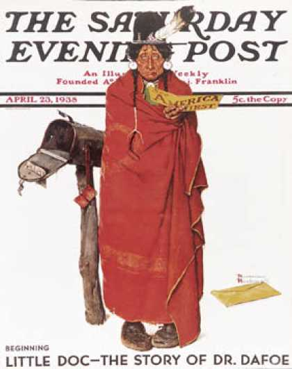 "Saturday Evening Post - 1938-04-23: ""See America First"" (Norman Rockwell)"