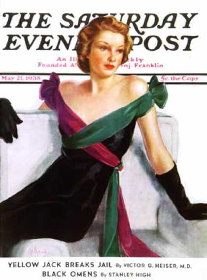 Saturday Evening Post - 1938-05-21: Evening Gown (Neysa McMein)