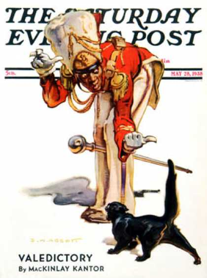Saturday Evening Post - 1938-05-28: Drum Major and Black Cat (Samul Nelson Abbott)