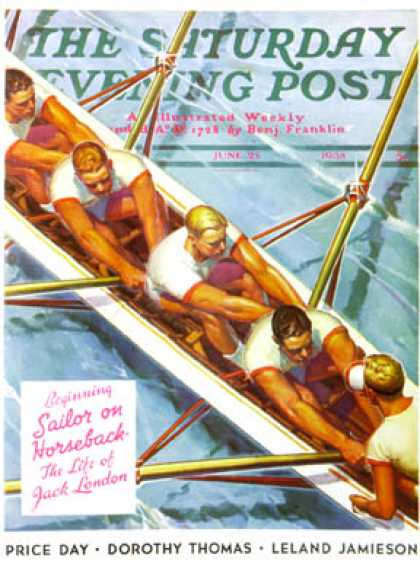 Saturday Evening Post - 1938-06-25: Scullers (Michael Dolas)