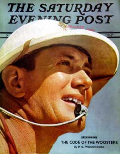 Saturday Evening Post - 1938-07-16: Photo of Lifeguard (Ivan Dmitri)
