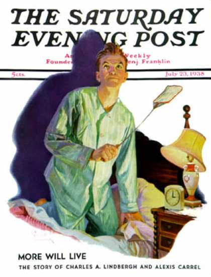 Saturday Evening Post - 1938-07-23: Nighttime Fly Fight (Russell Sambrook)