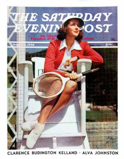 Saturday Evening Post - 1938-08-06: Photograph of Tennis Player (Paul Hesse)
