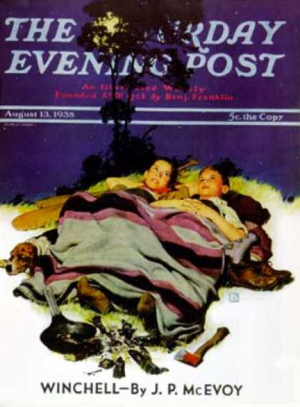 Saturday Evening Post - 1938-08-13: Camping Out (Douglas Crockwell)