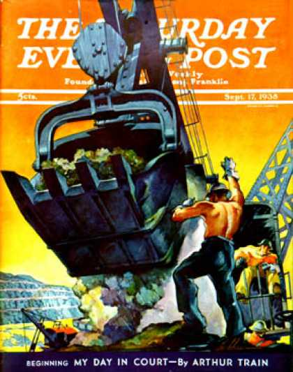 Saturday Evening Post - 1938-09-17: Steam Shovel (Ski Weld)