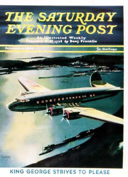 Saturday Evening Post - 1939-02-04: Night Flight (Josef Kotula)
