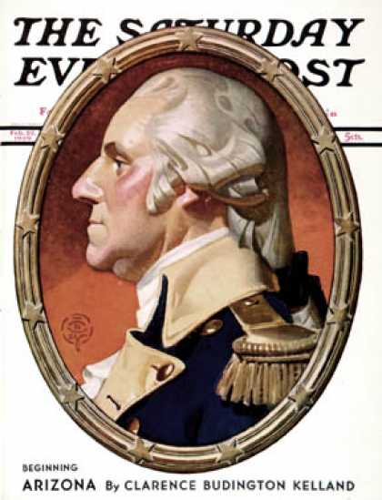 Saturday Evening Post - 1939-02-25: Washington in Profile (J.C. Leyendecker)