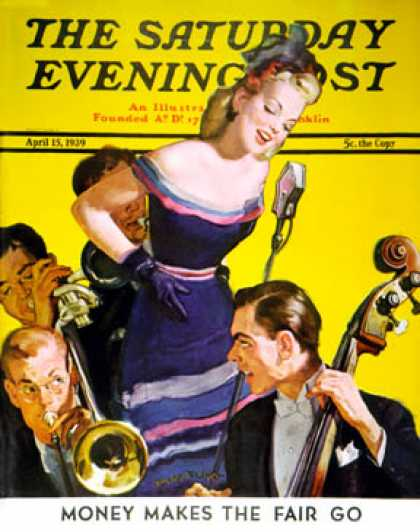 Saturday Evening Post - 1939-04-15: Big Band and Songstress (Emery Clarke)