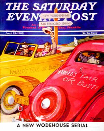 Saturday Evening Post - 1939-04-22: World's Fair or Bust (John E. Sheridan)