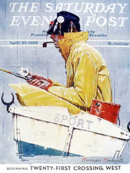 "Saturday Evening Post - 1939-04-29: ""Sport"" (Norman Rockwell)"