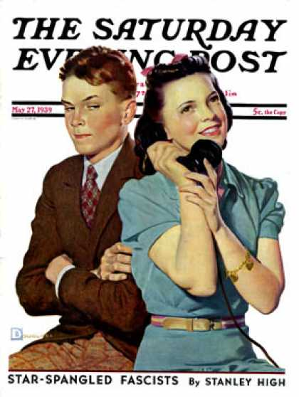 Saturday Evening Post - 1939-05-27: Phone Call from Another Suitor (Douglas Crockwell)