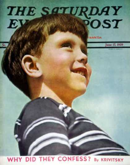 Saturday Evening Post - 1939-06-17: Smiling Boy (Philip Clay Roettinger)