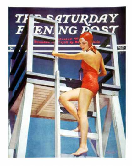 Saturday Evening Post - 1939-07-22: Dive Tower (Paul Hesse)