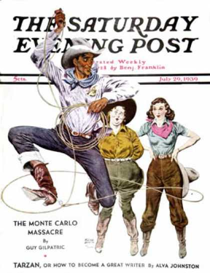Saturday Evening Post - 1939-07-29: Lasso Tricks (Floyd Davis)