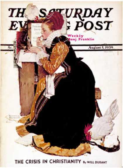 "Saturday Evening Post - 1939-08-05: ""Summer stock"" (Norman Rockwell)"