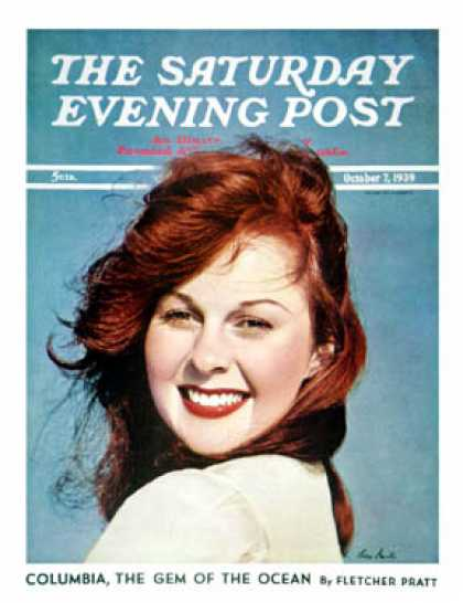 Saturday Evening Post - 1939-10-07: Young Susan Hayward (Ivan Dmitri)