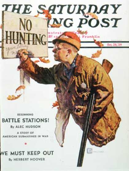 "Saturday Evening Post - 1939-10-28: ""No Hunting"" (Douglas Crockwell)"