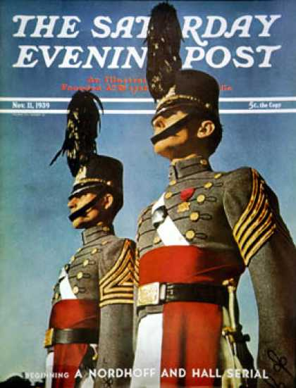 Saturday Evening Post - 1939-11-11: West Point Cadets (Ivan Dmitri)