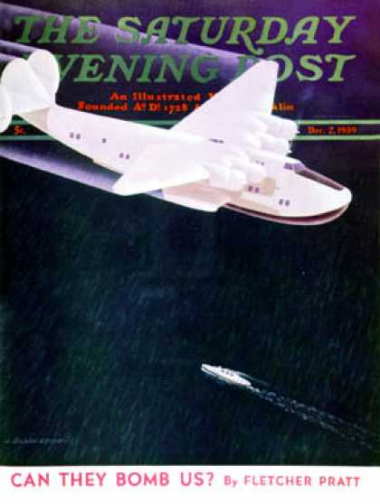 Saturday Evening Post - 1939-12-02: Propeller Plane (H. Wilson Smith)