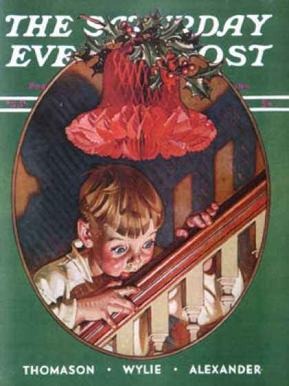 Saturday Evening Post - 1939-12-23: Christmas Peek (J.C. Leyendecker)