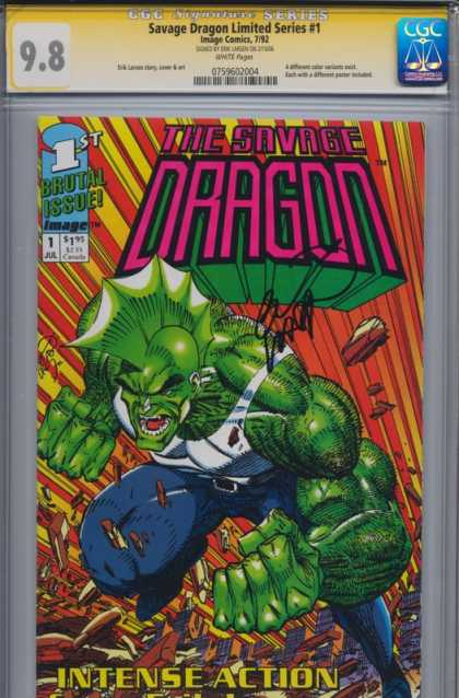 Savage Dragon 1 - Brutal Issue - Monster - Mutant - Image - Intense Action - Erik Larsen