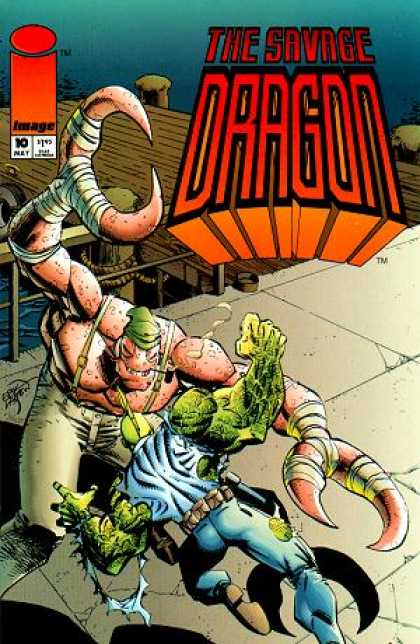 Savage Dragon 10 - Monster - Image - Water - Superhero - Stone Floor - Erik Larsen