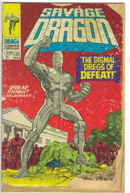 Savage Dragon 124 - Dread Knight - The Dismal Dregs Of Defeat - Image Comics Group - Robot - Red Sky - Erik Larsen
