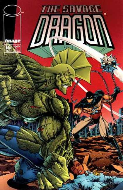 Savage Dragon 16 - Image Comics - Erik Larsen - Superheroic Police Officer - The Dragon - Superfreaks - Erik Larsen