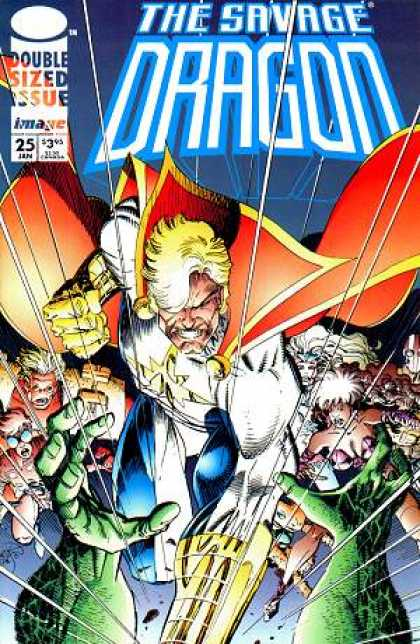 Savage Dragon 25 - Cape - Double Sized Issue - Super Hero - Jan - 25 - Erik Larsen