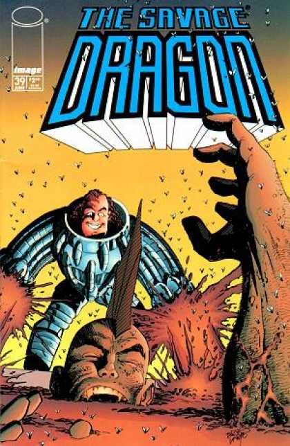 Savage Dragon 39 - Flies - Giant - Robot Man - Blood - Buried Giant - Erik Larsen