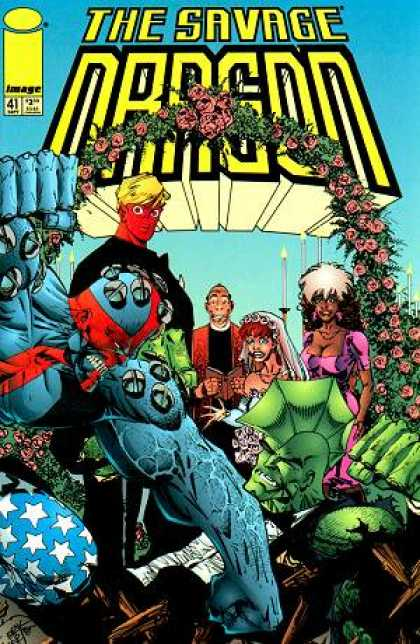 Savage Dragon 41 - Weddings - Flowers - Monster - Image - Stars - Erik Larsen