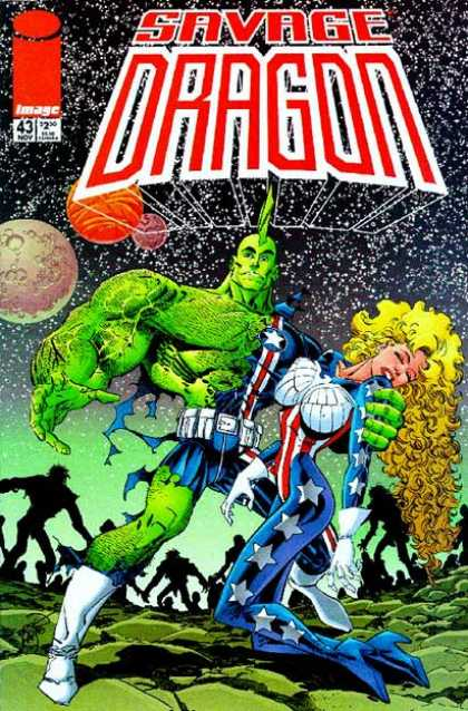 Savage Dragon 43 - Image - Woman - Mutant - Superhuman - Space - Erik Larsen