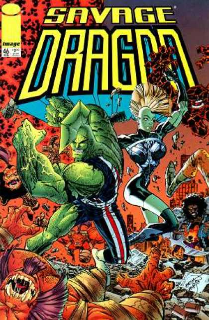 Savage Dragon 46 - Mohawk Mutants - Dragon Avengers - City Dissasters - Green Mutants - City Savers - Erik Larsen