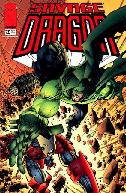Savage Dragon 57 - Stone - Rock - Fench - Red - Man - Erik Larsen
