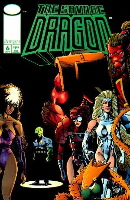 Savage Dragon 6 - Woman - Monsters - Glasses - Spikes - Spotlight - Erik Larsen