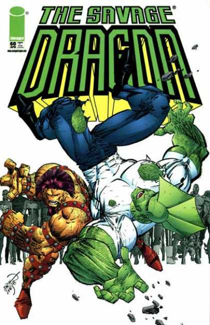 Savage Dragon 60 - Image - Monster - Mutant - Fighting - Super-human - Erik Larsen
