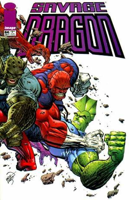 Savage Dragon 64 - Strong Man - Great Energy - Fighting - Great Muscles - Great Arms - Erik Larsen