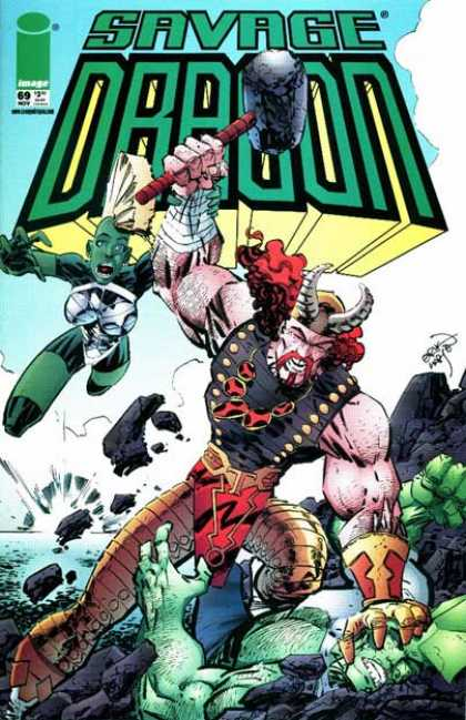 Savage Dragon 69 - Hammer - Image - Superhero - Vikings - Fights - Erik Larsen