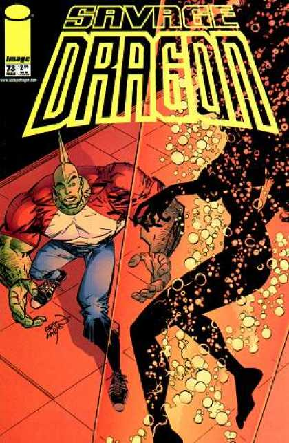 Savage Dragon 73 - Woman - Shadow - Bubbles - Surprised - Glance - Erik Larsen