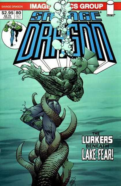 Savage Dragon 80 - Dragon - Lake - Fear - Green - Savage - Erik Larsen