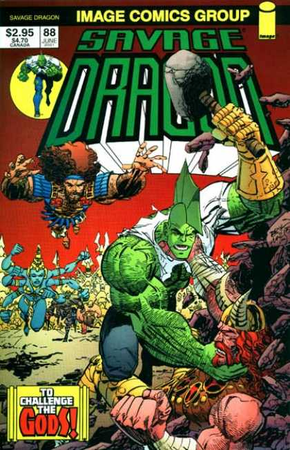 Savage Dragon 88 - Hammer - Fight - Fly - Horn - Many - Erik Larsen