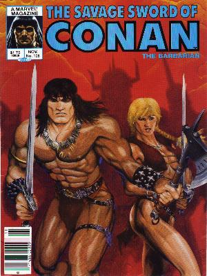 Savage Sword of Conan 106 - Barbarian - Savage Sword - A Marvel Magazine - Warrior - A Warlord And His Warrior Girl - Michael Golden