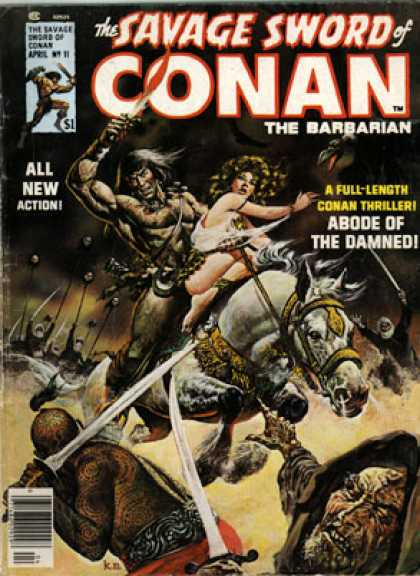 Savage Sword of Conan 11 - All New Action - Horse - Swords - Abode Of The Damned - Demons