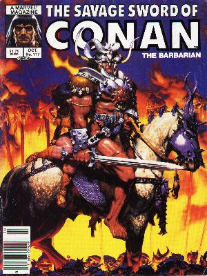 Savage Sword of Conan 117 - Marvel - The Barbarian - Sword - Horse - Ready For Attack - Michael Golden