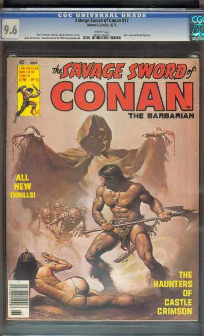 Savage Sword of Conan 12 - Marvel Comics - Conan - Hunters - Castle - Crimson - Boris Vallejo