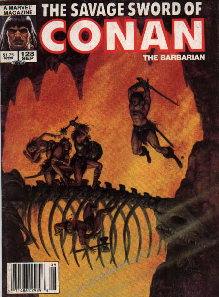 Savage Sword of Conan 128 - A Marvel - Magazine - 128 Sep - The Barbarian - 175