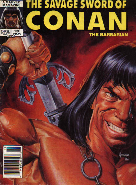 Savage Sword of Conan 130 - The Barbarian - Ornate Sword - Muscle Man - Marvel - Wrist Cuffs