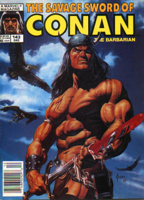 Savage Sword of Conan 143 - Marvel - December - Muscles - Weapon - Viking Hat